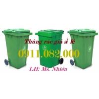 Thùng rác nhựa chuyên sỉ giá rẻ- Thùng rác 120 lít 240 lít 660 lít- lh 0911082000