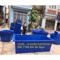 Thùng nhựa chữ nhật nuôi cá 2000lit/1100lit/750lit Lhe 0967788450