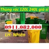 Giá sỉ thùng rác 120 lít 240 lít giá rẻ- thùng rác- lh 0911082000