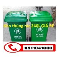 Chuyên cung cấp thùng rác 120lit, 240lit xe thu gom rác 660lit