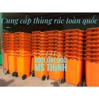 Thùng rác màu cam có sẵn số lượng lớn lh 0911.041.000