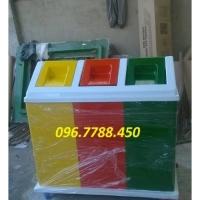 Thùng rác 3 ngăn, 2 ngăn đạp chân giá rẻ giao toàn quốc Lhe 0967788450