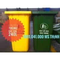 Thùng rác giá rẻ tại long an - thùng rác 120lit lh 0911.041.000