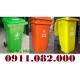 Cung cấp thùng rác 240 lít màu xanh, cam, vàng giá rẻ