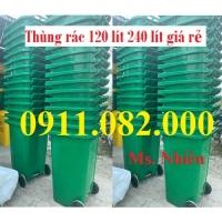Công ty bán sỉ thùng rác 120 lít giá rẻ tại sóc trăng- thùng rác 240L 660L