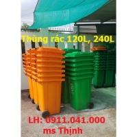 Thùng rác giá rẻ 60lit 120lit 240lit, thùng rác công cộng công nghiệp-0911.041.000