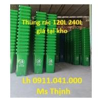 Chuyên sỉ lẻ thùng rác 40lit 60lit 120lit giá rẻ lh 0911.041.000