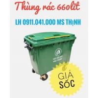 Xe đẩy rác 660lit-ms thịnh-0911.041.000