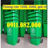Quận 7- nơi bỏ sỉ thùng rác 120L 240L giá rẻ- lh 0911.082.000