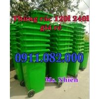 Nơi cung cấp thùng rác công cộng giá rẻ- thùng rác 120 lít 240 lít