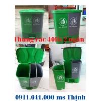 Thùng rác dùng gia đình 40lit 2 ngăn