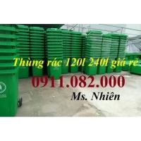 Mua bán thùng rác giá rẻ- giảm giá thùng rác 120 lít 240 lít giá thấp- lh 0911082000