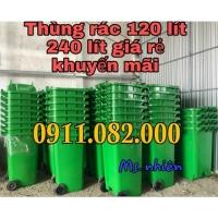 Xe gom rác 660 lít giá rẻ tại vĩnh long- thùng 120 lít 240 lít