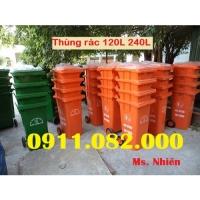 Cung cấp thùng rác số lượng lớn giá rẻ toàn quốc- Thùng rác 120L 240L