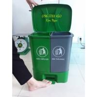 Bán thùng rác 2 ngăn đạp chân Lhe 0967788450 Ngọc