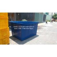 Thùng nhựa 2000 lít nuôi cá Lhe 0967788450 Ngọc