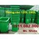 Thùng rác môi trường, thùng rác 120L 240L 660L giá rẻ toàn quốc- lh 0911.082.000