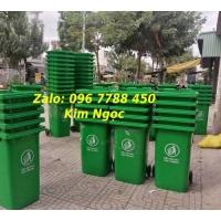 Thùng rác nhựa môi trường 240 lít giá rẻ Lhe 0967788450 Ngọc