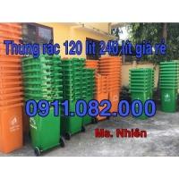 Thùng rác nắp kín giá sỉ lẻ- thùng rác 120l 240l 660l giá rẻ tại trà vinh