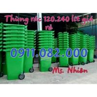 Cung cấp thùng rác nhựa 120L 240L giá rẻ, thùng rác y tế