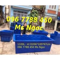 Thùng nhựa vuông 2000 lít nuôi cá cảnh giá rẻ Lhe 0967788450 Ngọc