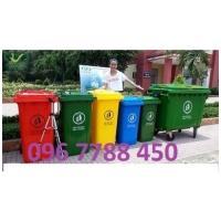 Thùng rác nhựa 120 lít, 240 lít, 2 ngăn, 3 ngăn Lhe 0967788450 Ngọc