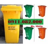 Thùng rác 240 lít sỉ giá rẻ tại trà vinh- lh 0911082000- Nhiên