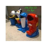 Thùng rác hình con thú cá chép, gấu trúc giá rẻ lhe 0967788450 Ngọc