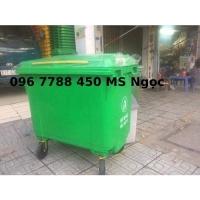 Xe đẩy gom rác thải lớn 660 lít Lhe 0967788450 Ngọc