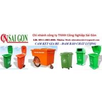 Giá thùng rác 240 lít tại hậu giang- Thùng rác môi trường, thùng rác 240l