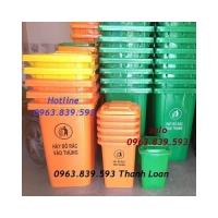 Phân phối thùng rác nhựa 60lit 100lit 120lit giá rẻ HCM./ Lh 0963.839.593 Ms.Loan