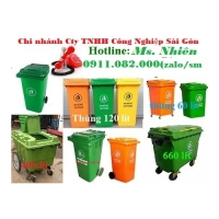 Nơi bán thùng rác 120 lít 240 lít giá rẻ tại hậu giang