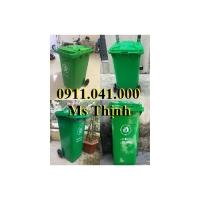 Thùng rác 120 lit 240 lit chuyên thu gom rác thải lh 0911.041.000