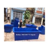 Thùng chữ nhật 1000 lít - thùng nhựa nuôi cá 1100 lít| 0963 838 772