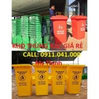 Thùng rác 120l nắp kín 240l màu xanh lá lh 0911.041.000