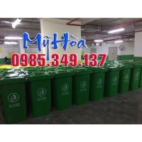 Thùng rác công cộng 240 lít nhựa HDPE giá rẻ 0985349137