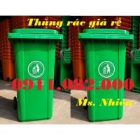 Cung cấp thùng 240 lít giá rẻ, thùng rác 240 lít màu xanh