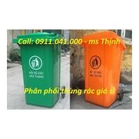 Sỉ lẻ thùng rác 120l 240l - thùng rác tại Long An lh 0911.041.000