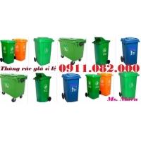 Thùng rác 240 lít giá rẻ tại vĩnh long- Thùng rác hình thú, thùng rác ngoài trời