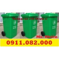 Sỉ lẻ thùng rác tại đồng tháp - thùng rác 120L 240L giá rẻ-lh 0911082000