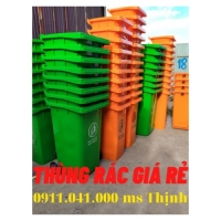 Đại lý thùng rác đồng nai - thùng rác 120lit 240lit lh 0911.041.000