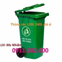 Thùng rác giá rẻ tại an giang - Cung cấp thùng rác nhựa 120L