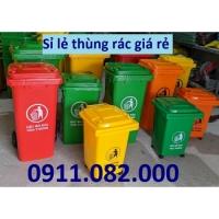Thùng rác 660 lít giá rẻ tại hậu giang- thùng rác 120L 240L
